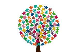 tree of puzzle pieces