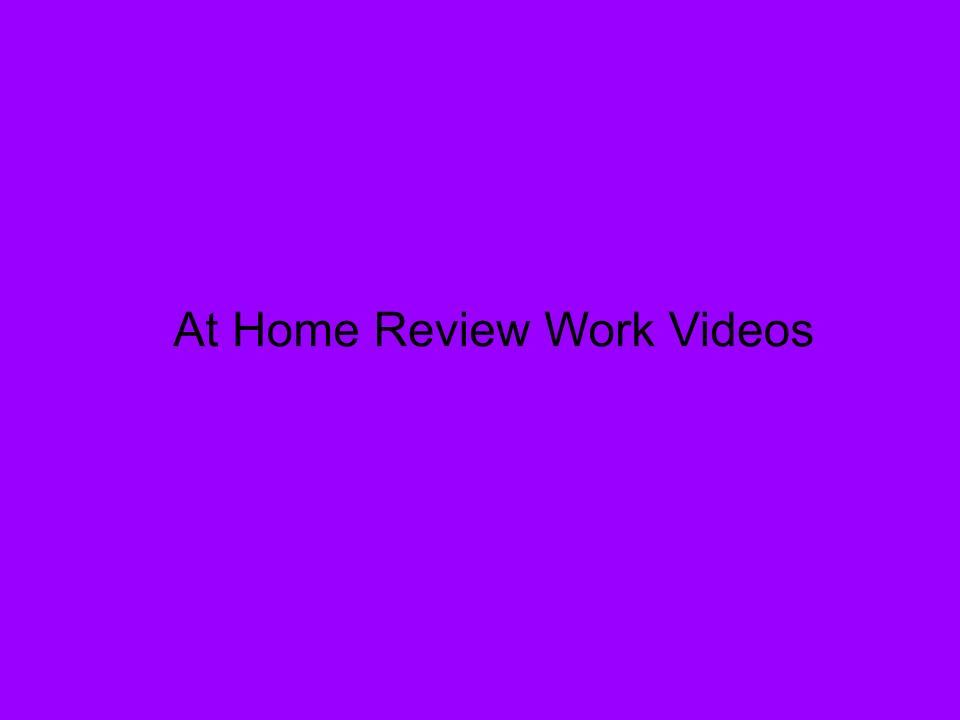 Review Videos For At-Home Assignments