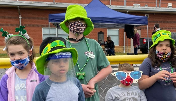 More of our students participating and having fun at the Leprechaun Walk!
